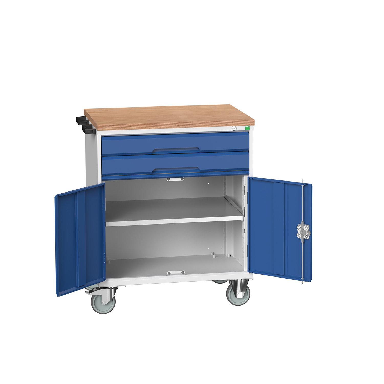 Bott Verso Mobile Drawer-Door Cabinet With 2 Drawers / Cupboard & Multiplex Top