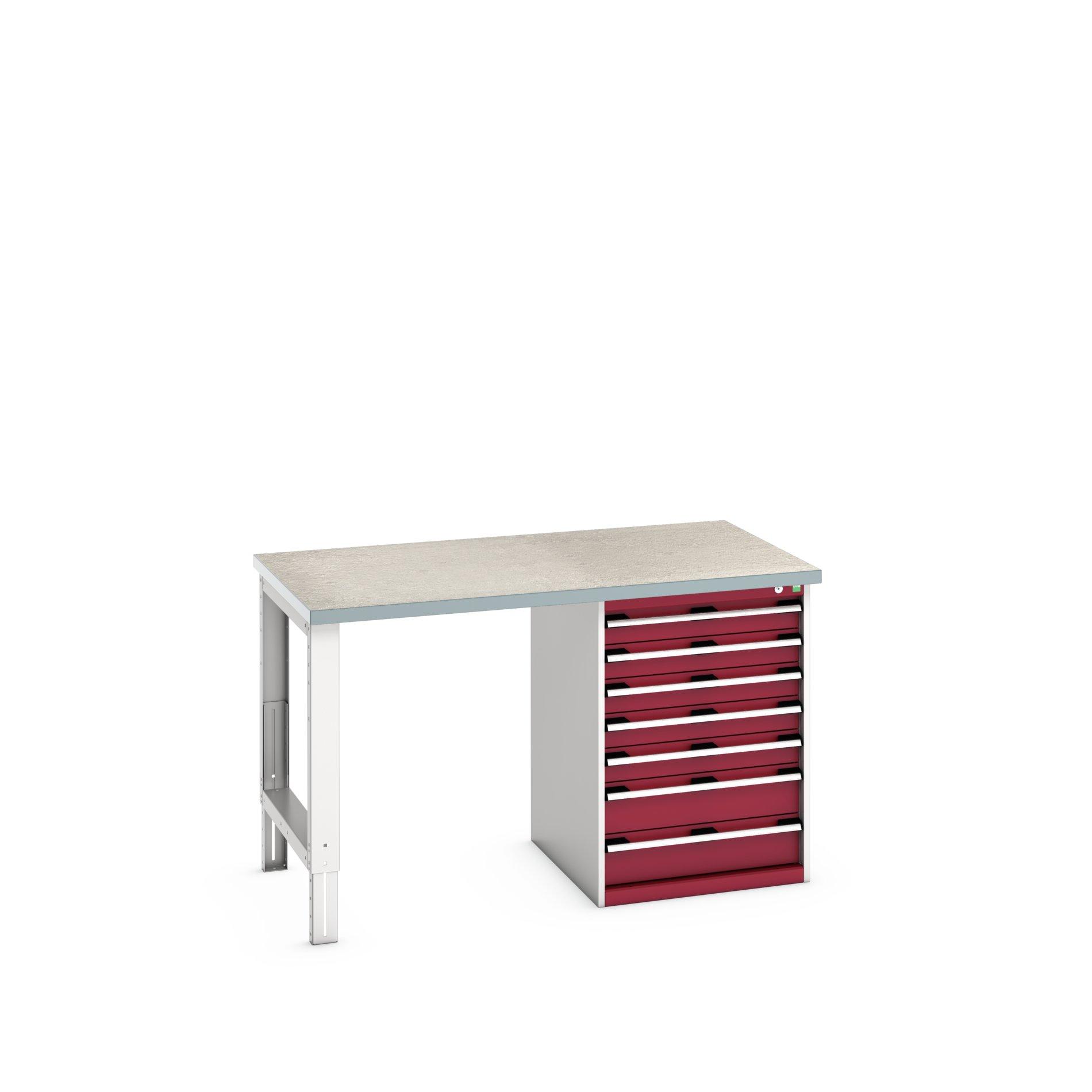 Bott Cubio Pedestal Bench With 7 Drawer Cabinet