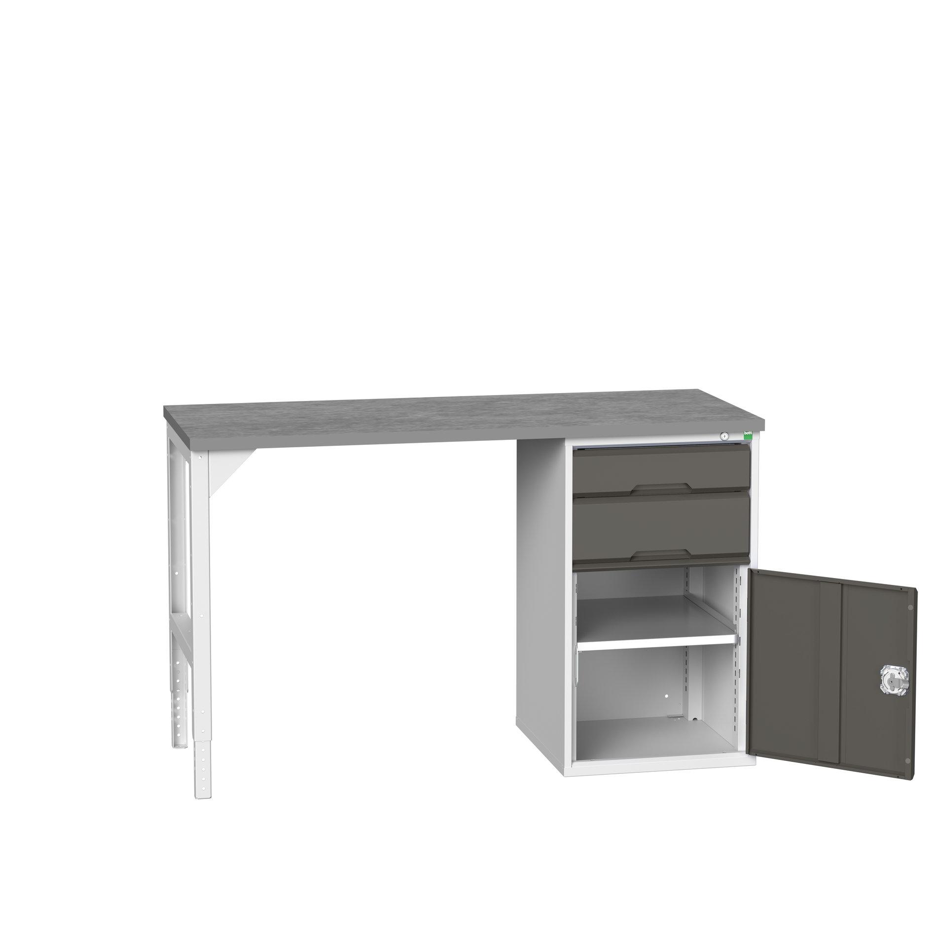 Bott Verso Pedestal Bench With 2 Drawer-Door Cabinet