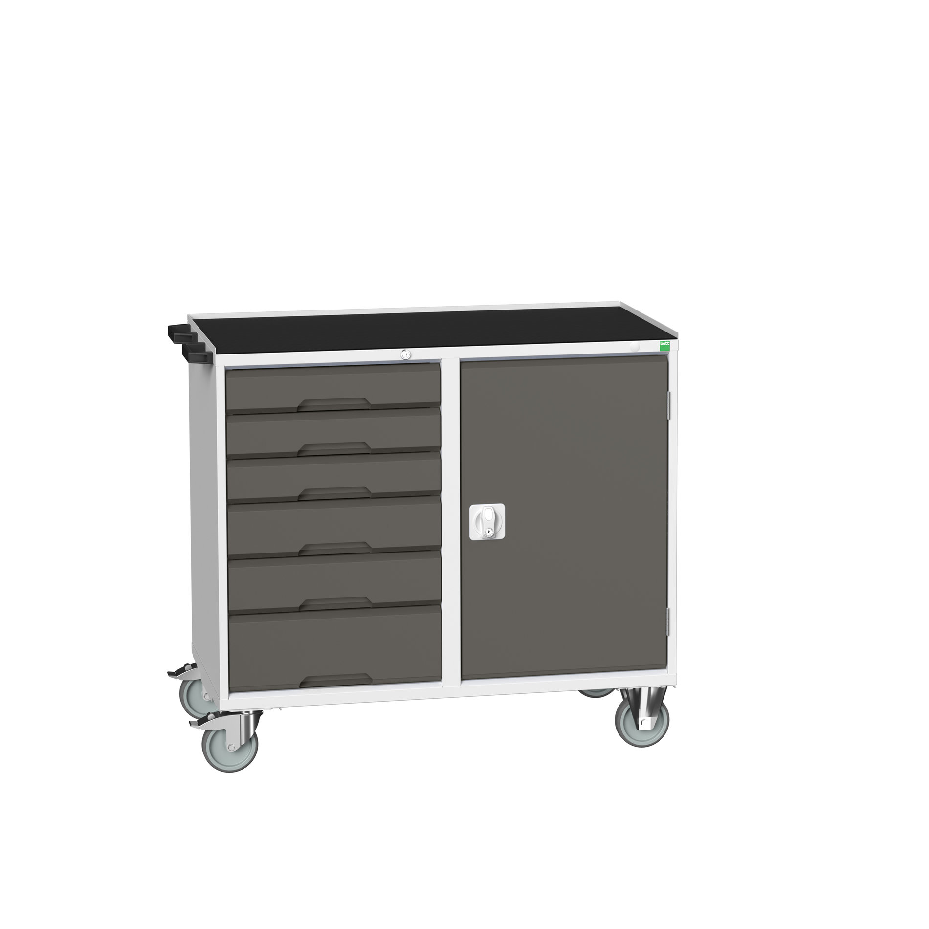Bott Verso Maintenance Trolley With 6 Drawers / Cupboard & Top Tray With Mat