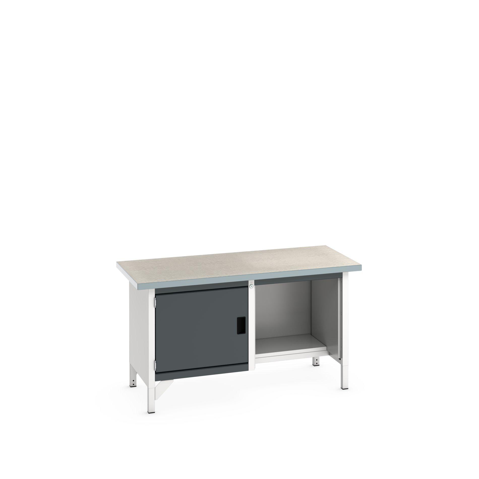 Bott Cubio Storage Bench With Full Cupboard / Open With Half Depth Base Shelf