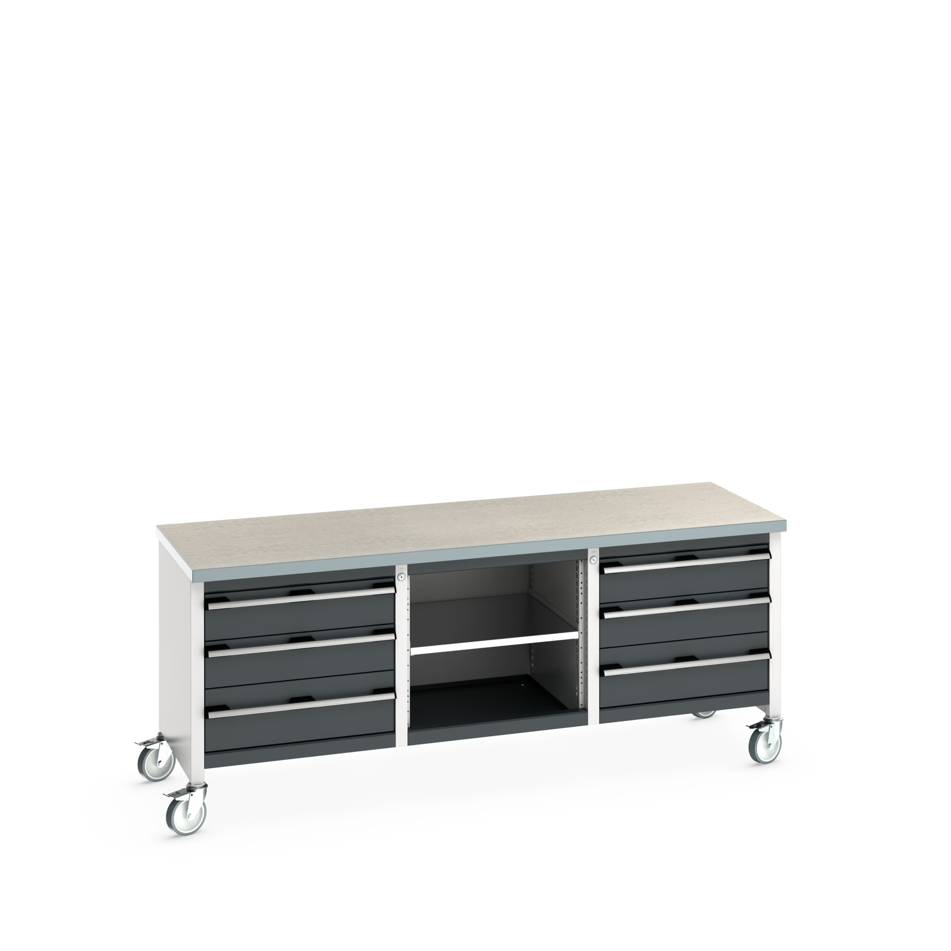 Bott Cubio Mobile Storage Bench With 3 Drawer Cabinet / Open Cupboard / 3 Drawer Cabinet