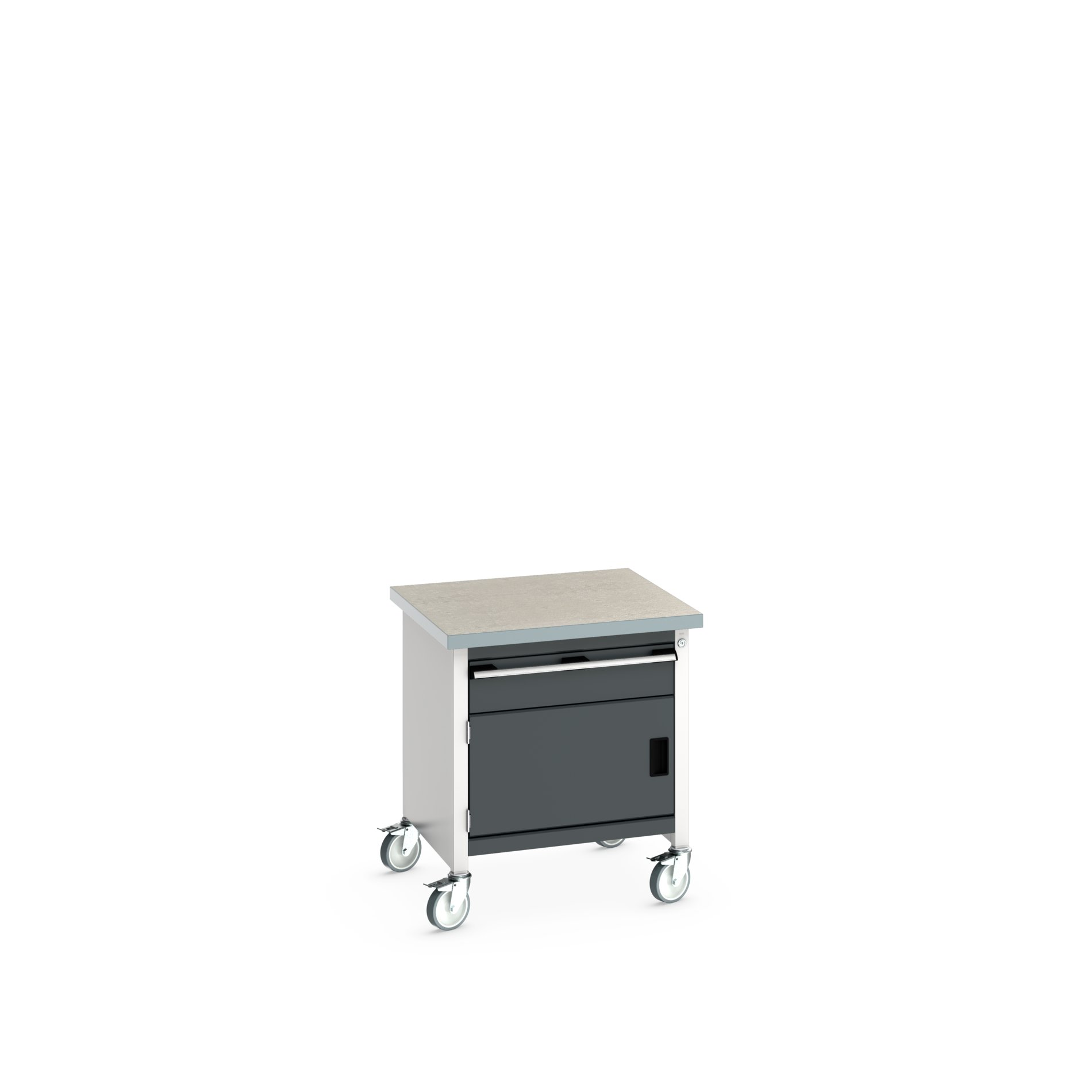 Bott Cubio Mobile Storage Bench With 1 Drawer - Full Cupboard