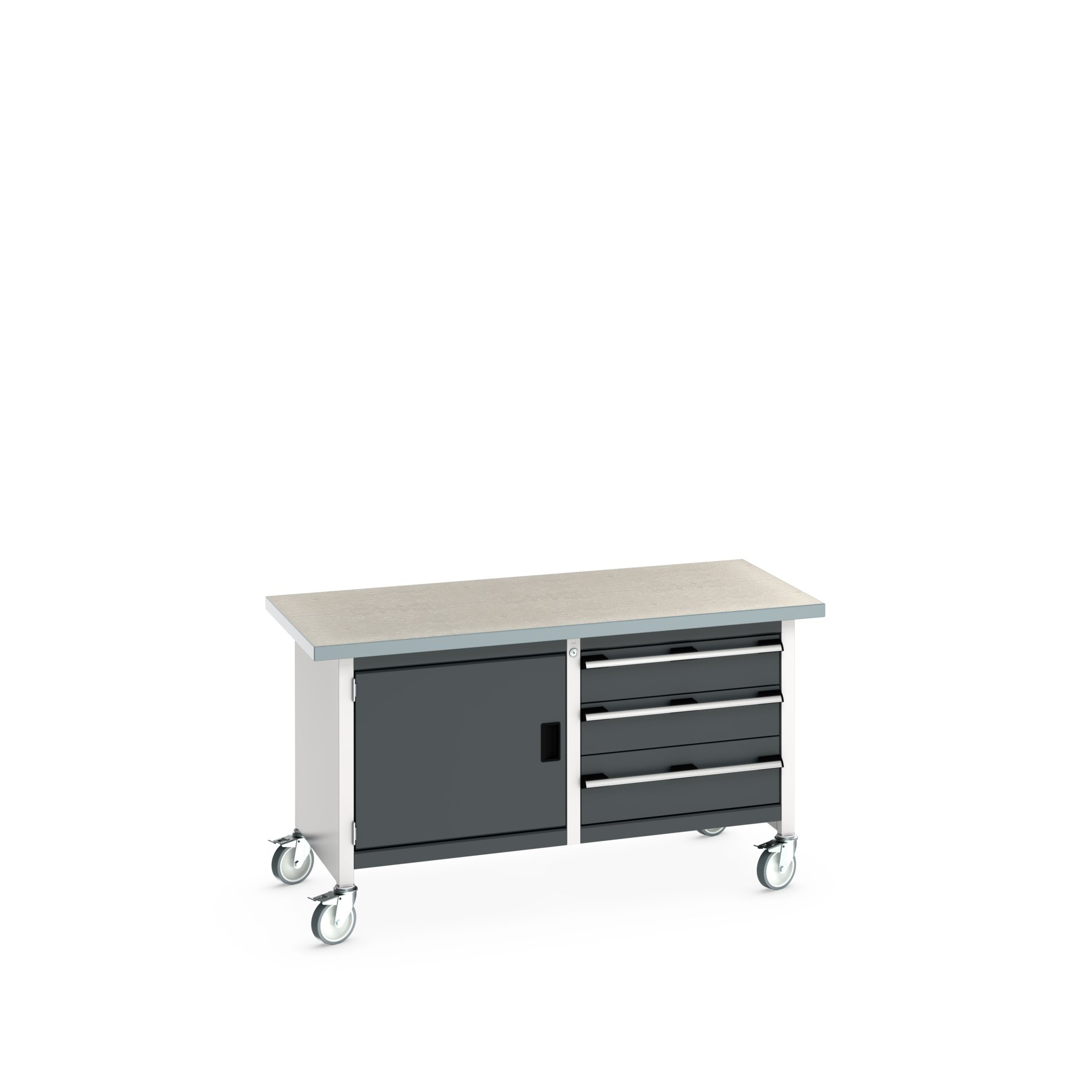 Bott Cubio Mobile Storage Bench With Full Cupboard / 3 Drawer Cabinet