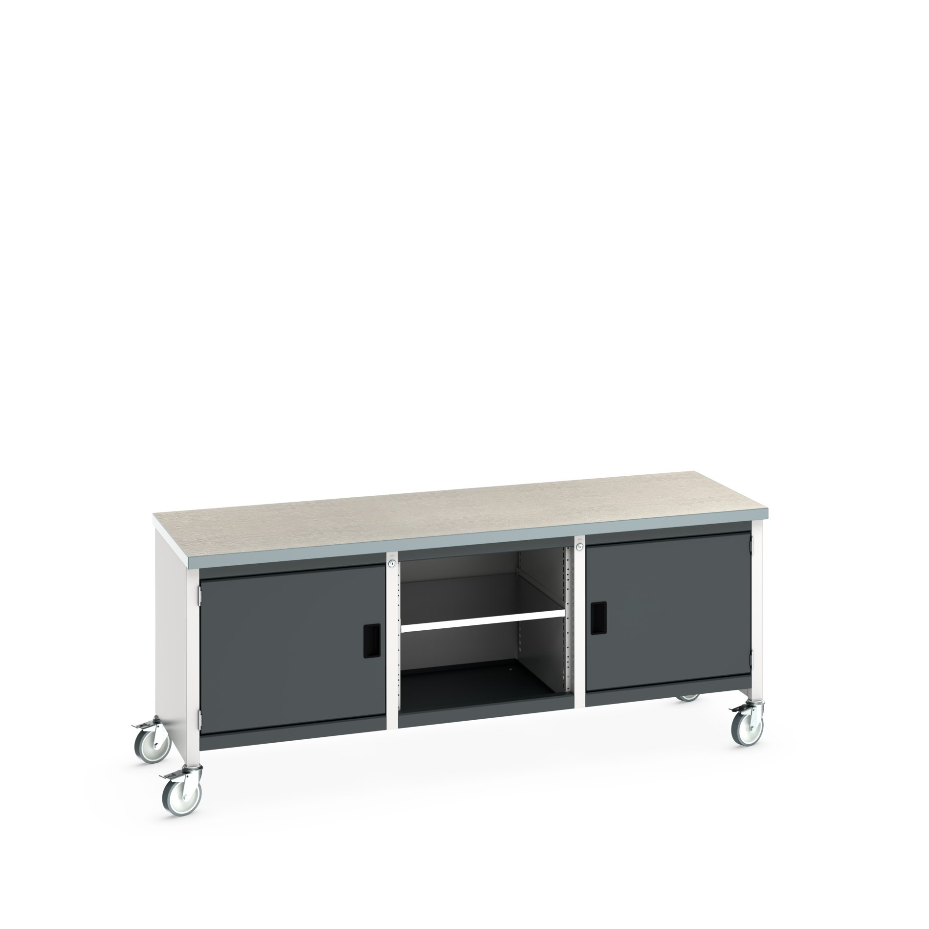 Bott Cubio Mobile Storage Bench With Full Cupboard / Open Cupboard /Full Cupboard