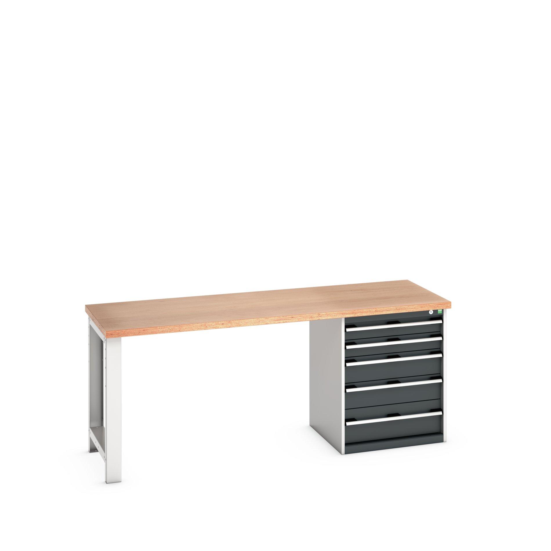 Bott Cubio Pedestal Bench With 5 Drawer Cabinet