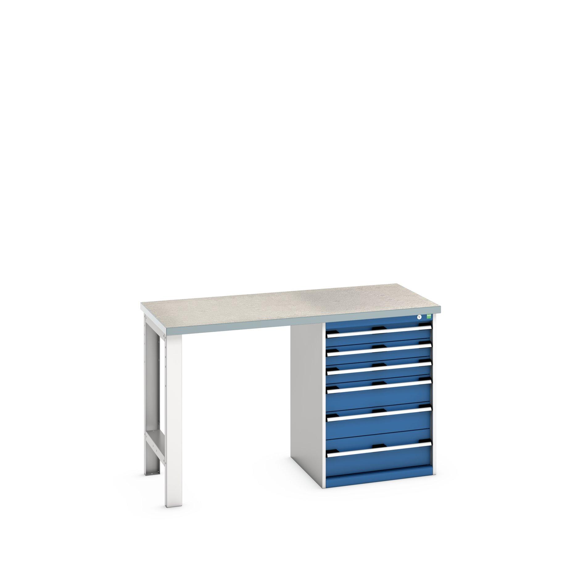 Bott Cubio Pedestal Bench With 6 Drawer Cabinet