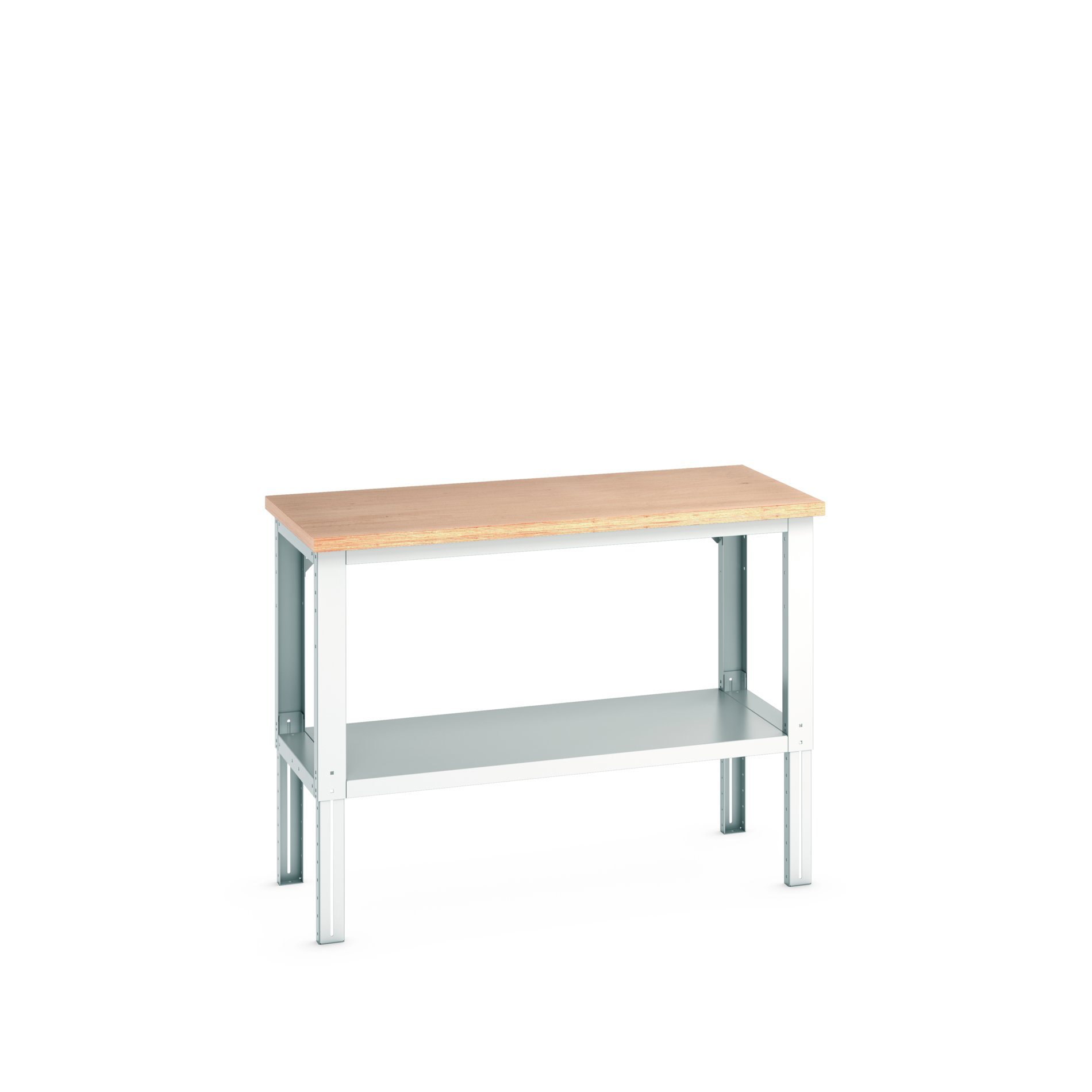 Bott Cubio Adjustable Height Framework Bench With Full Depth Base Shelf