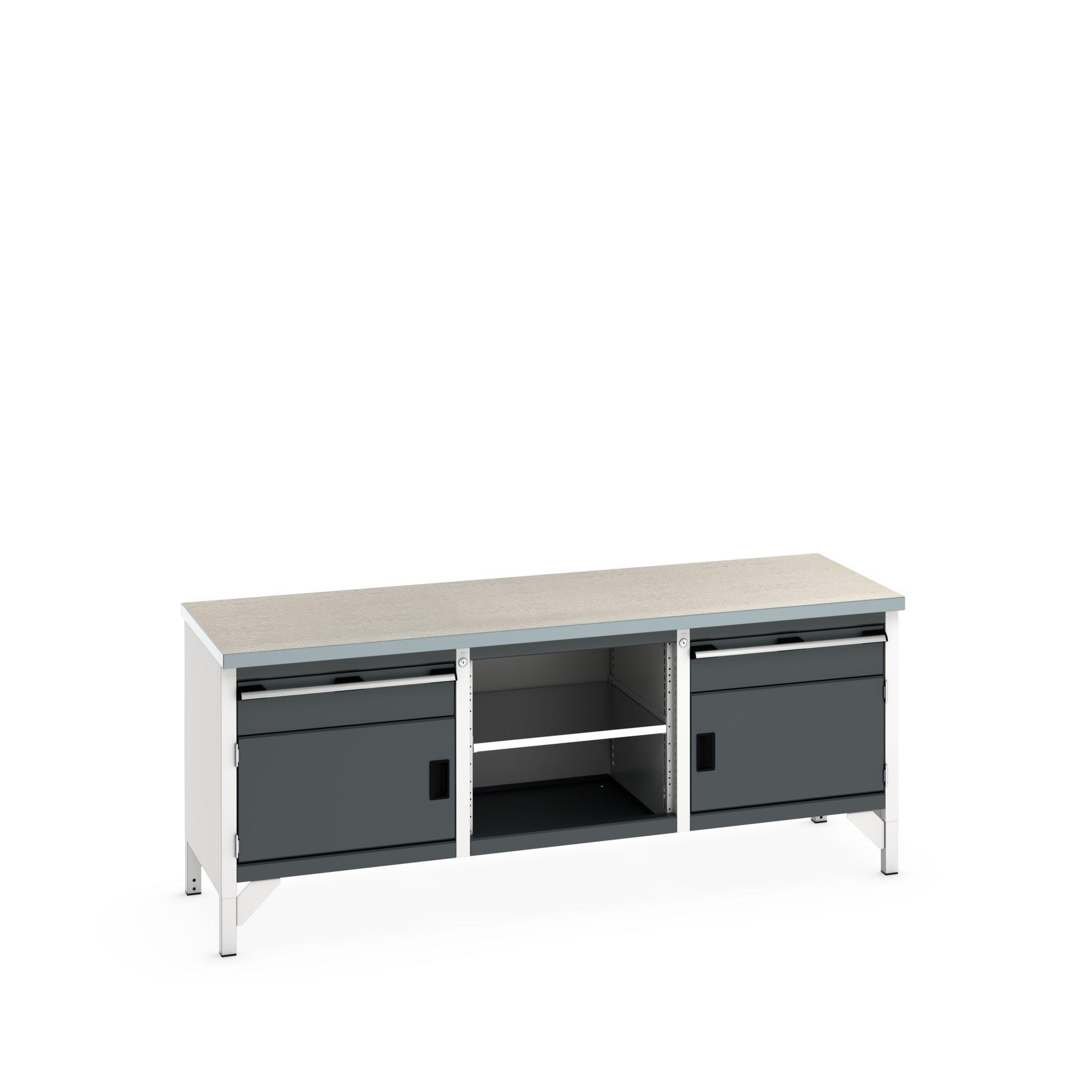 Bott Cubio Storage Bench With 1 Drawer-Door Cabinet / Open Cupboard / 1 Drawer-Door Cabinet