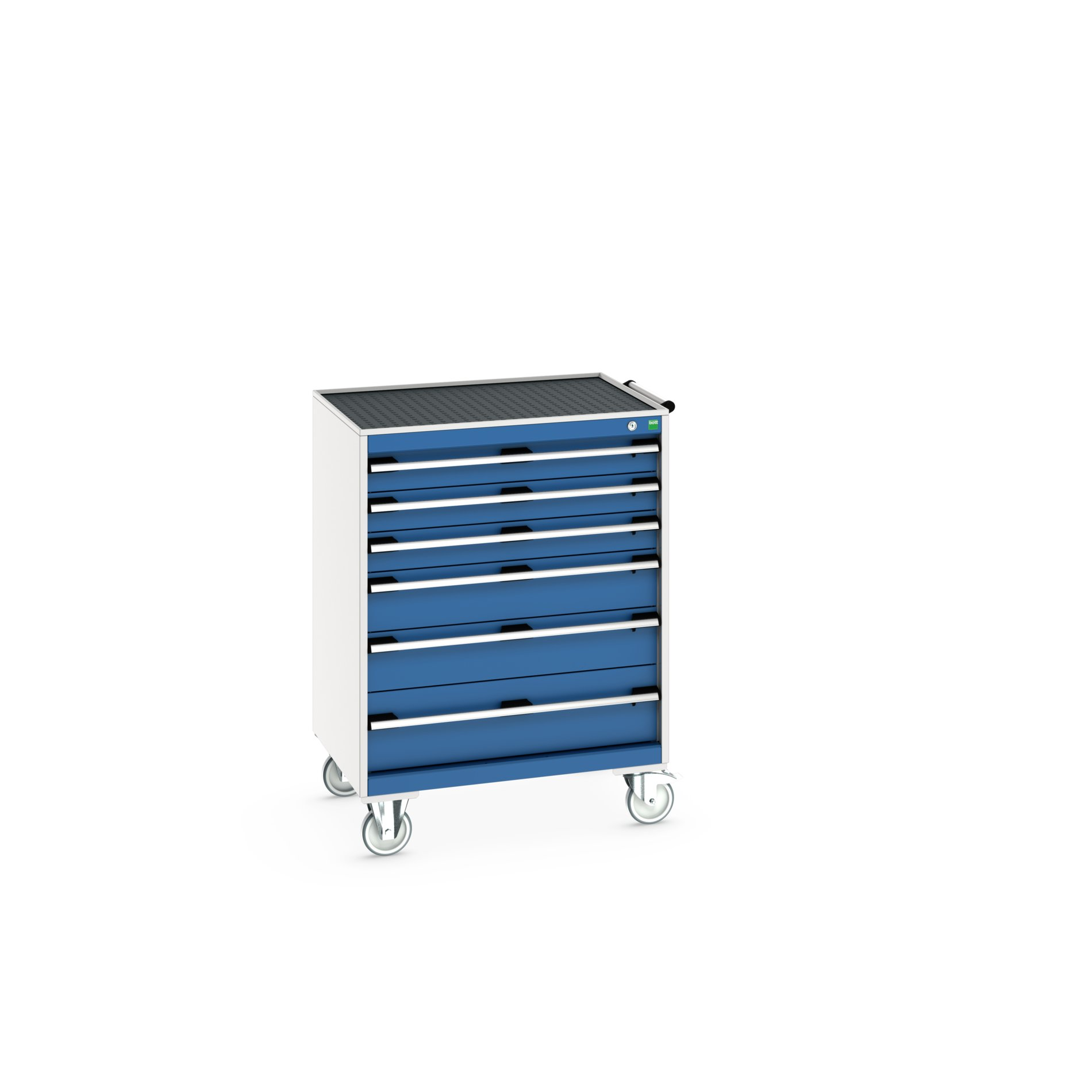 Bott Cubio Mobile Drawer Cabinet With 6 Drawers & Top Tray With Mat