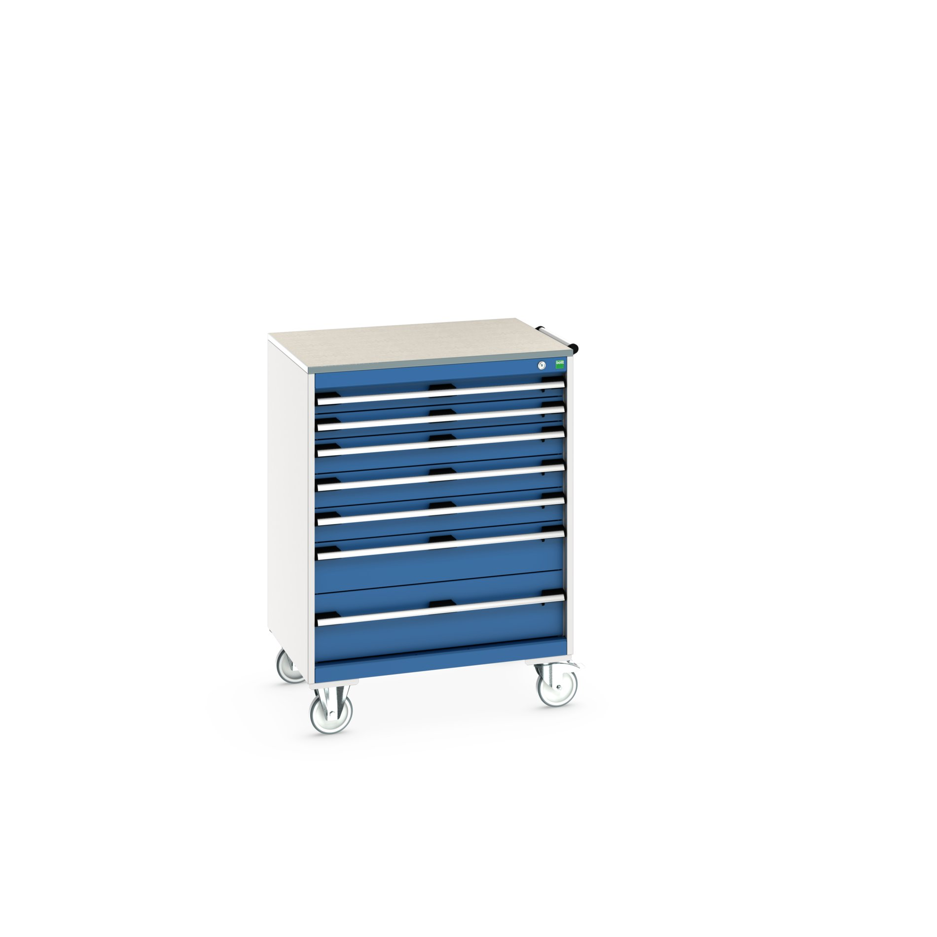 Bott Cubio Mobile Drawer Cabinet With 7 Drawers & Lino Worktop