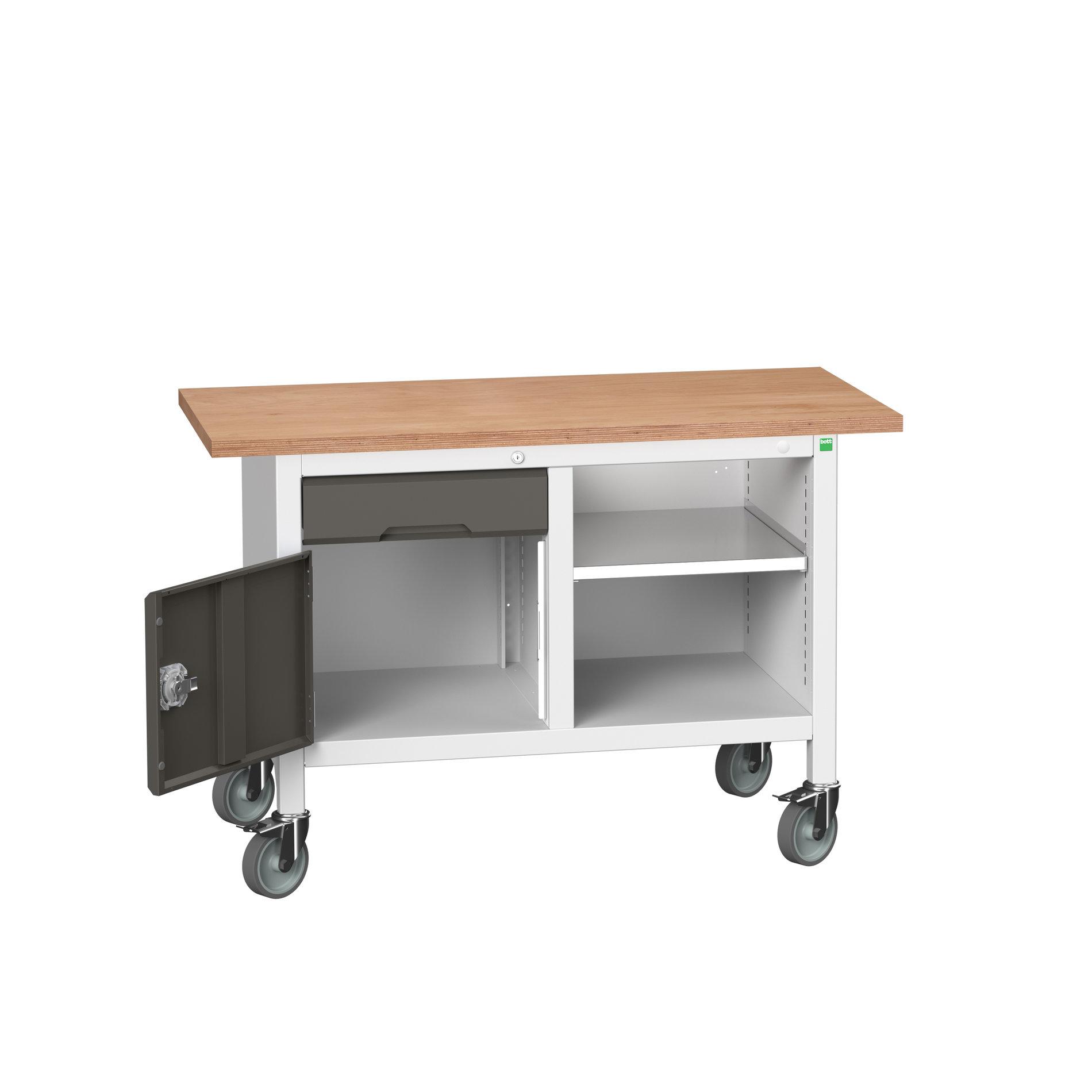 Bott Verso Mobile Storage Bench With 1 Drawer-Door Cabinet / Open Cupboard