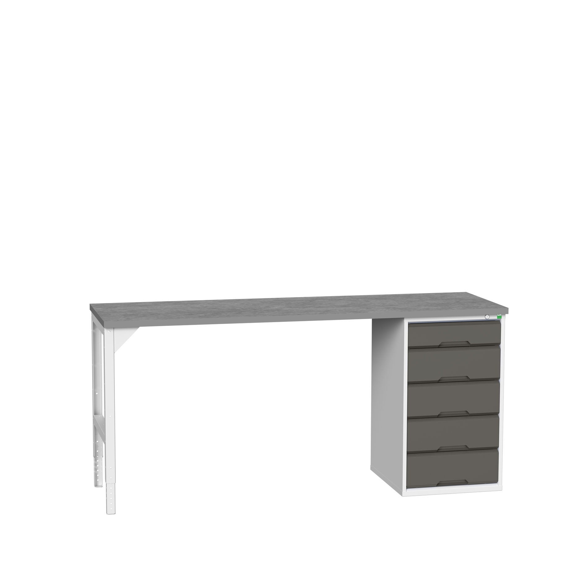 Bott Verso Pedestal Bench With 5 Drawer Cabinet