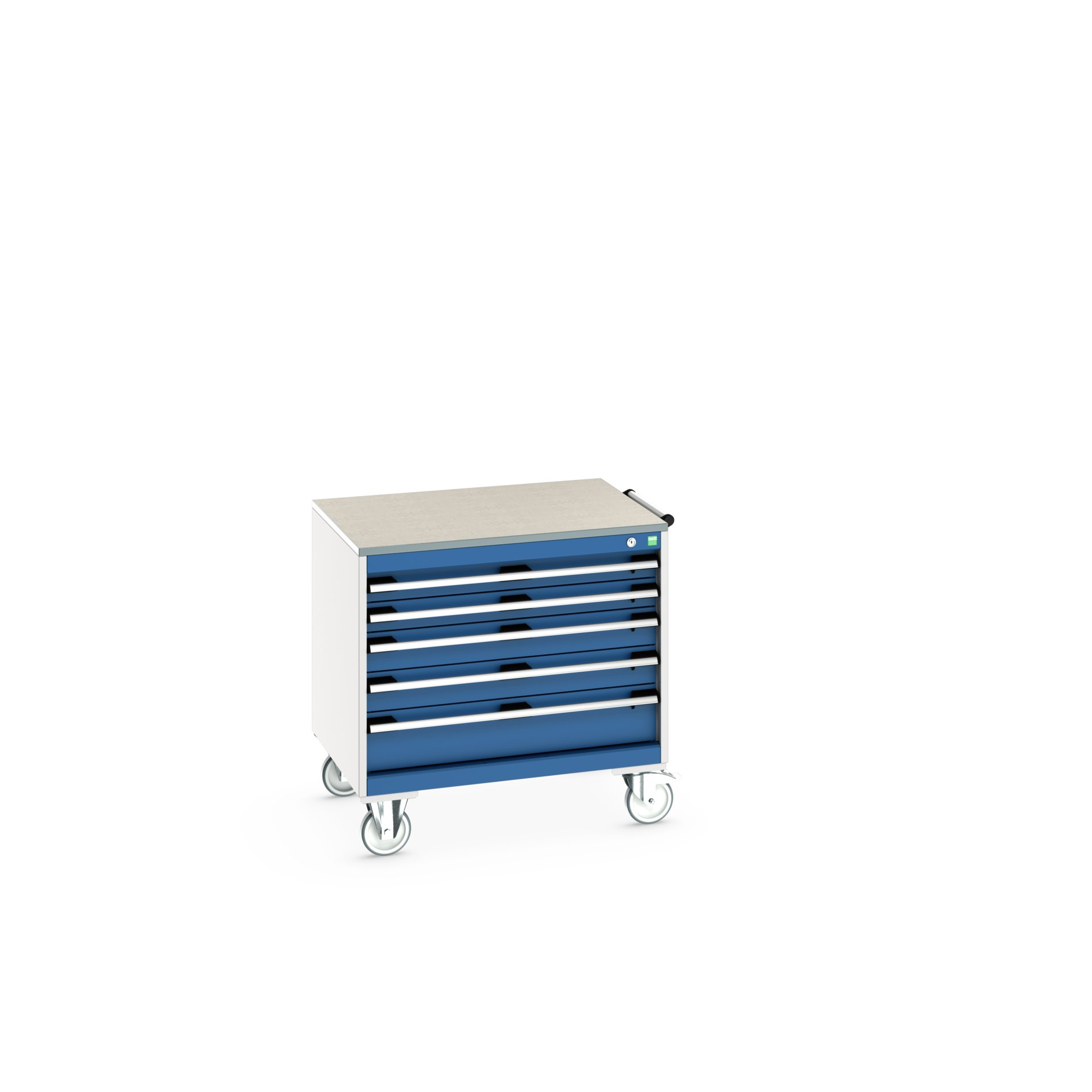 Bott Cubio Mobile Drawer Cabinet With 5 Drawers & Lino Worktop
