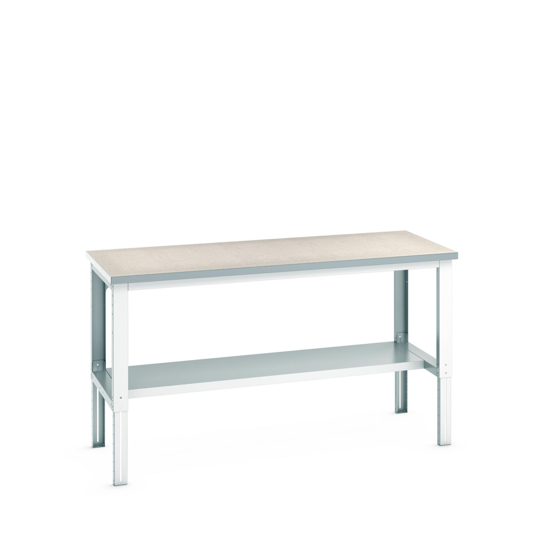 Bott Cubio Adjustable Height Framework Bench With Half Depth Base Shelf