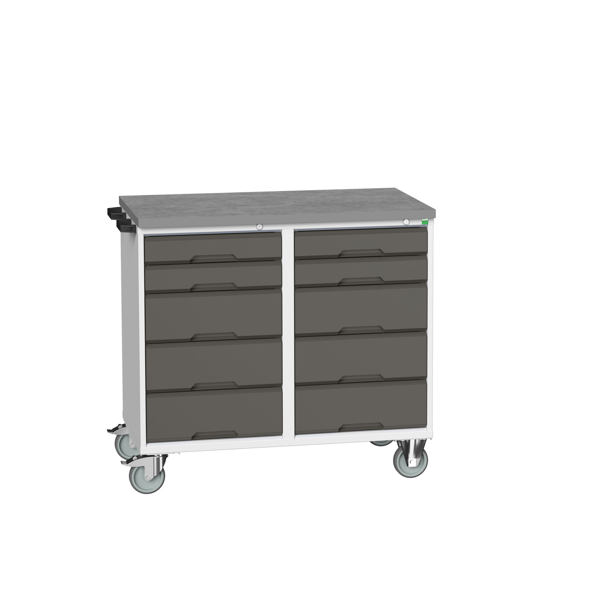 Bott Verso Maintenance Trolley With 10 Drawers & Lino Top