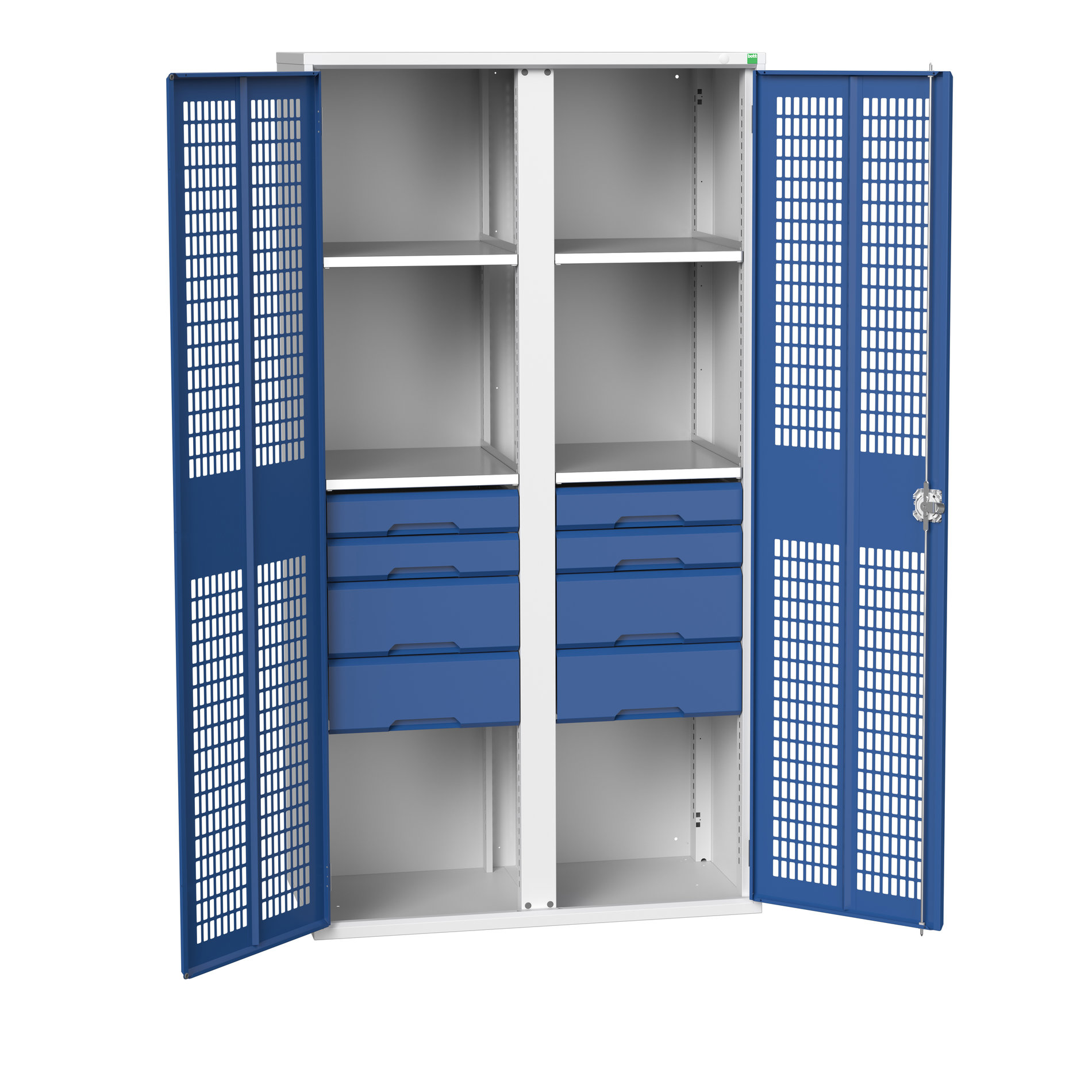 Bott Verso Ventilated Door Kitted Cupboard With Vertical Partition
